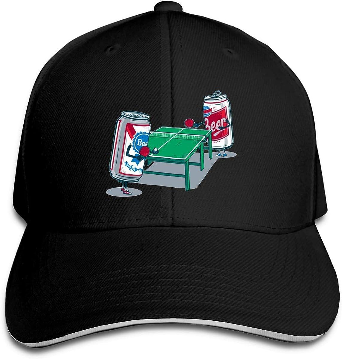 Overlooked Shop Gorra de béisbol Beer Pong Trucker Gorra de sándwich con Pico Ajustable