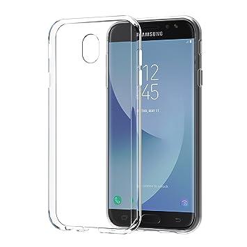 SPARIN Carcasa Samsung Galaxy J7 2017 Funda, Samsung Galaxy J7 2017 TPU Transparente [Flexibilidad] Carcasa, Funda de Silicona, Espalda Protección ...