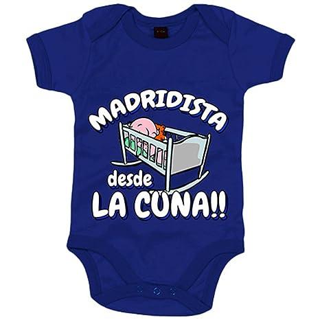 Body bebé Madridista desde la cuna Merengue Madrid fútbol - Azul Royal, 6-12 meses