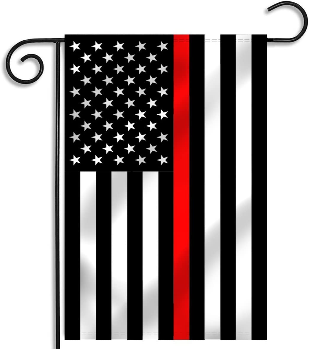 Pointview Flags Thin Red Line American Garden Flag 12 5 X 18 Inches Garden Outdoor Amazon Com