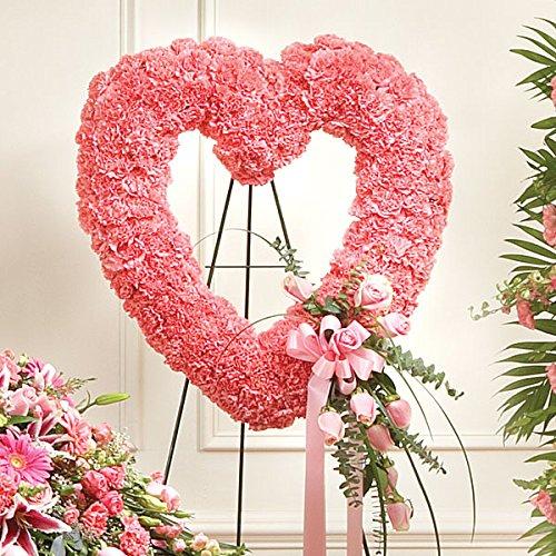 PlantShed - Pink Open Heart - Flower Hand Delivery in NYC Local Manhattan (Pink Casket Spray Flowers)