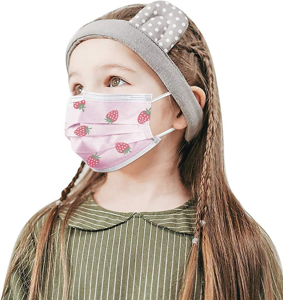 Lomelomme 10//50//100Pcs Gar/çon Fille Jetable Filtre Face Scarf Enfants Impressions Face Bandanas Doux Et Confortable