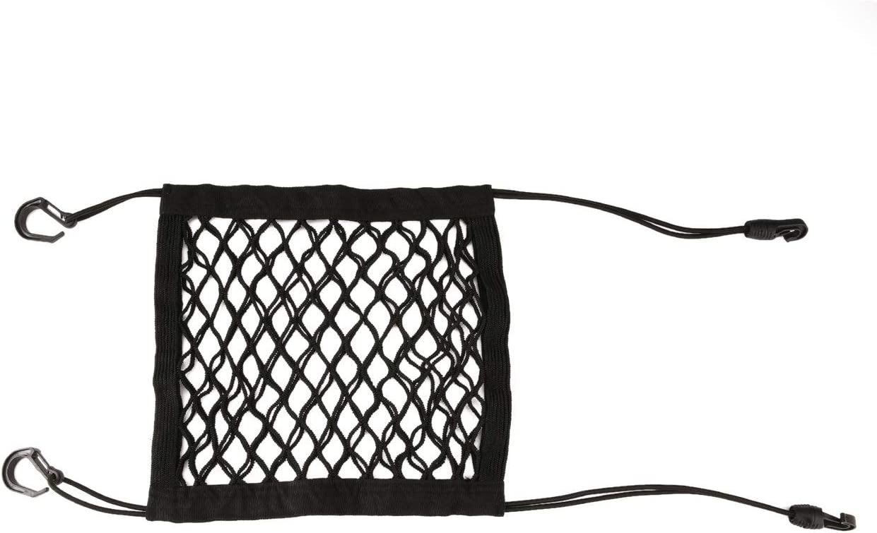 black Jasnyfall Car Universal Elastic Mesh Net Trunk Bag//Between Car Organizer Luggage Holder Pocket With 4 Plastic Hooks