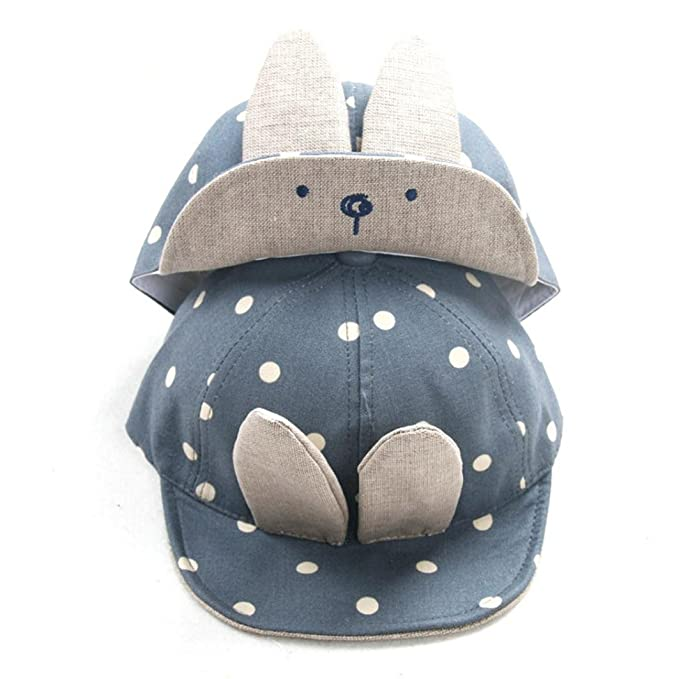 50ce27ca229 Amazon.com  Allywit Baby Beanie For Boys Girls Long Rabbit Ears Children  Dots Hats (Blue)  Clothing