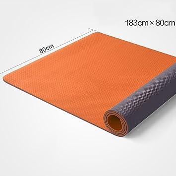 Amazon.com : Yoga mat TPE Wide 80cm Tasteless Anti-Skid ...