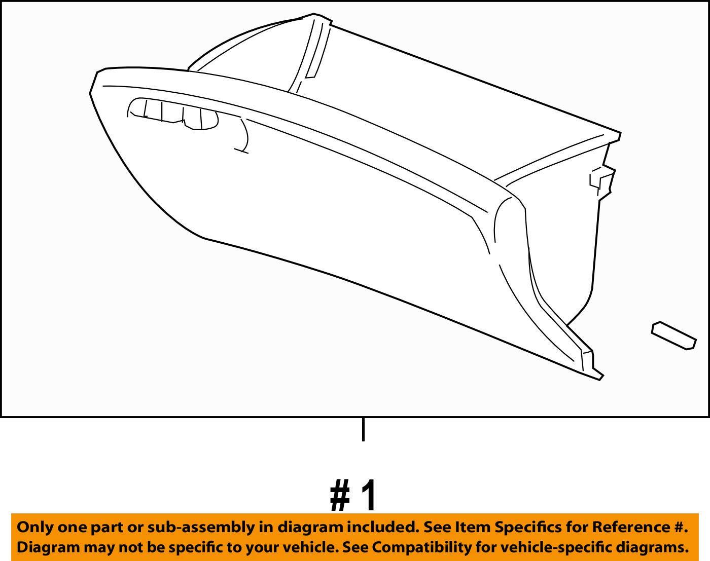 Honda Genuine 77500-SNA-A02ZE Glove Box Assembly
