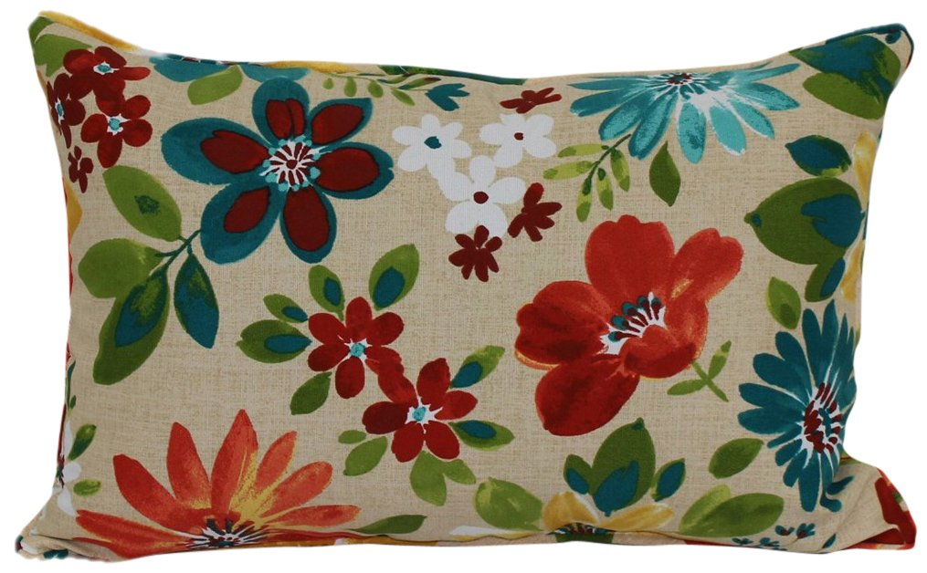 Brentwood Originals 35618 Indoor/Outdoor Toss Pillow, 13 by 20-Inch, Piper Biscotti - ADD A DISTINCTIVE STYLE from one of the top decorative pillow manufacturers, Brentwood Originals WEATHER PROOF AND WATER RESISTANT to last through the toughest elements MAINTAINS VIBRANT COLORS with our fade-resistent technology - living-room-soft-furnishings, living-room, decorative-pillows - 61x2BCPPLdL -