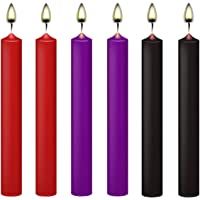 KISEER 6 Pcs Low Temperature Candles Low Heat Romantic Candles Dripping Wax for Couples Lovers, Home Decration