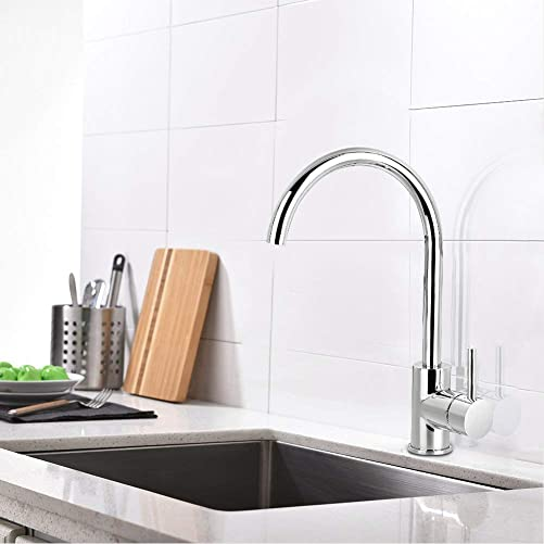Sink Faucets Single Handle 360 Degree Swivel Hot Cold Mixer Single Handle Kitchen Sink Faucet