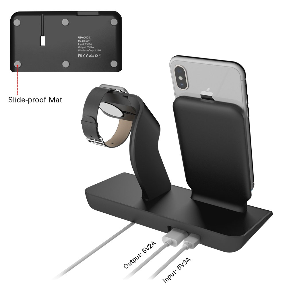 Apple Watch Stand charging docks & iPhone X Wireless Charger Stand for iPhone X/8/8 Plus,iwatch charger stand holder for Apple Watch Series 3,2,1 & Nike by XDODD (Image #5)