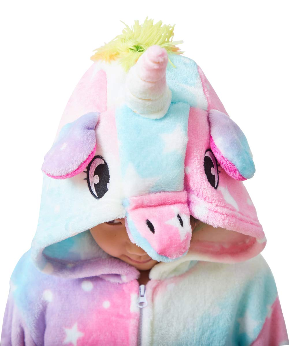 Lovely Kids Unicorn Onesie Pajamas Girls Animal Costume Chlidren Halloween Cosplay 7