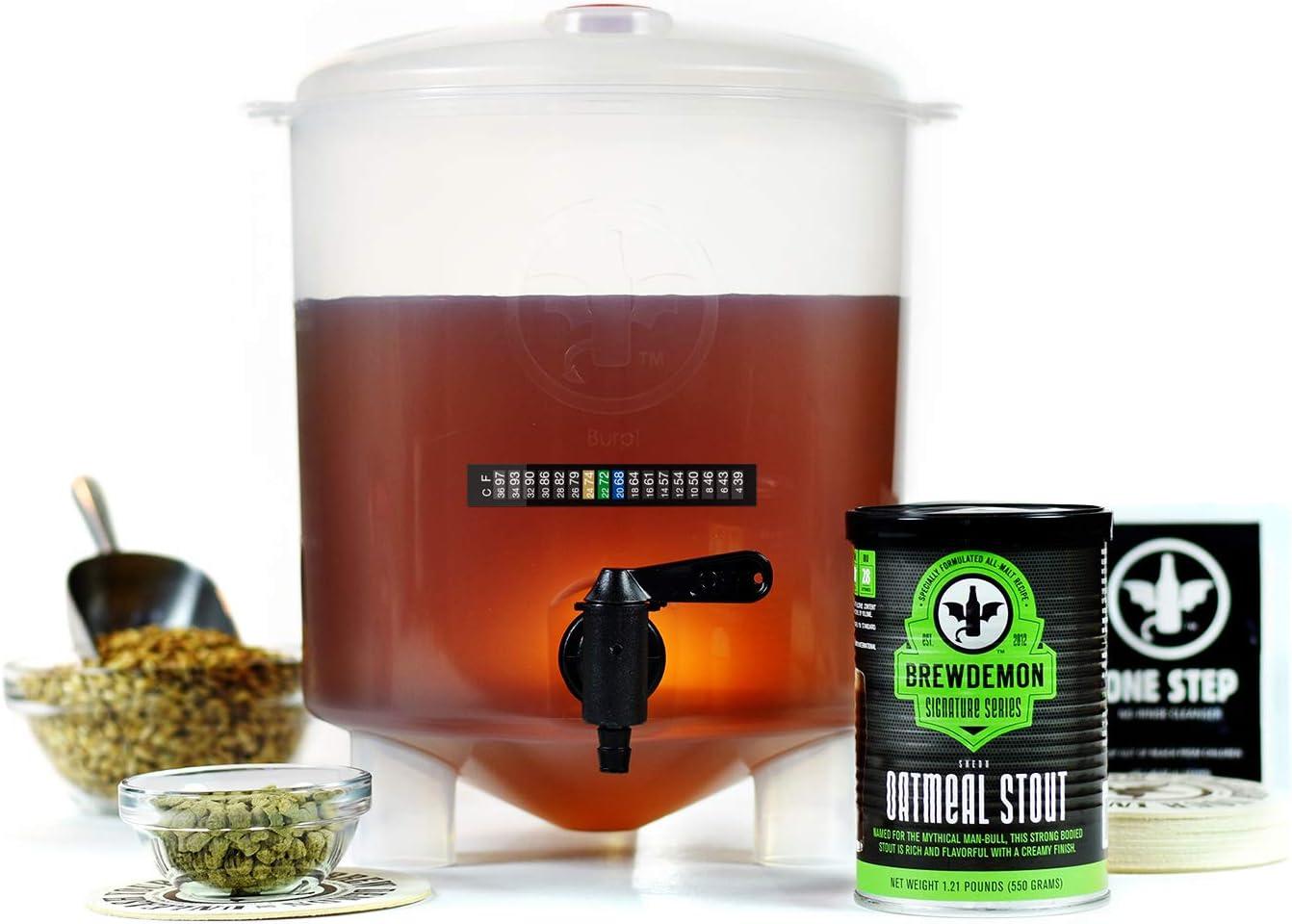 BrewDemon kit para hacer cerveza de 1 galón Shedu Oatmeal Stout
