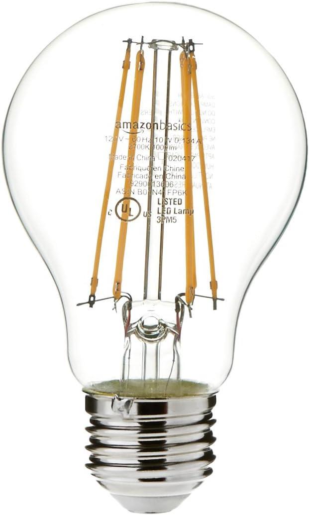 16-Pack Soft White A19 LED Light Bulb Non-Dimmable 15,000 Hour Lifetime Basics 75 Watt Equivalent