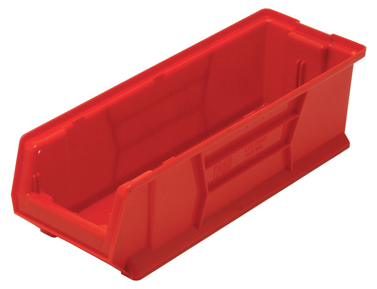 Quantum QUS950 Plastic Storage Stacking Hulk Container, 24-Inch by 8-Inch by 7-Inch, Red, Case of 6