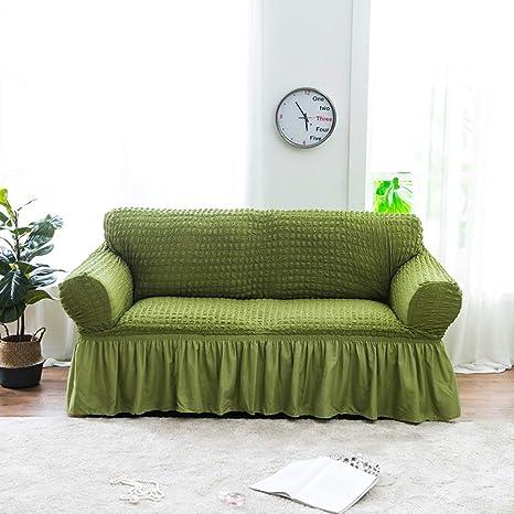 Amazon.com: YHviking Funda de sofá elástica de color sólido ...