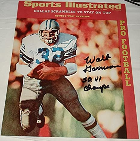9283862fa43 Image Unavailable. Image not available for. Color: Walt Garrison Hand Signed  / Autographed Dallas Cowboys ...