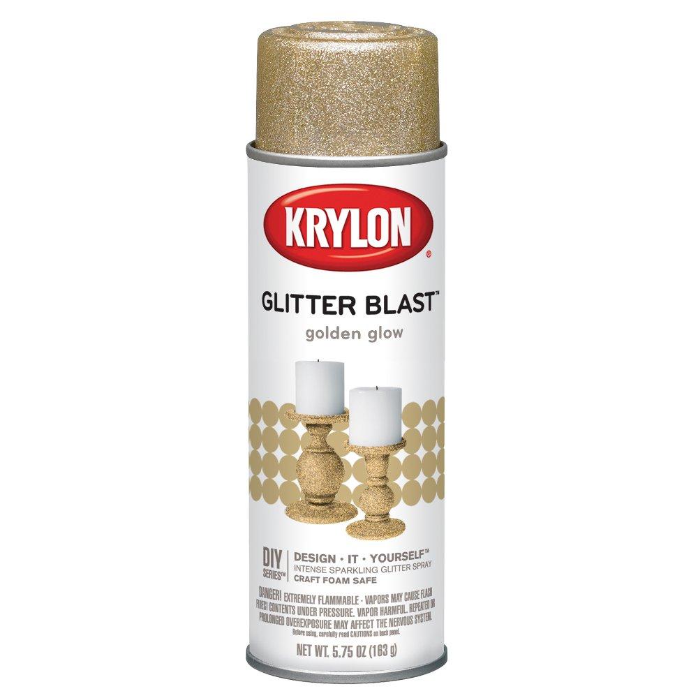 Krylon K03801A00 Glitter Blast, Golden Glow, 5.75 Ounce