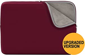 """RAINYEAR 11-11.6 Inch Laptop Sleeve Case Soft Lining Carrying Bag Padded Zipper Cover Compatible with 11.6"""" MacBook Air for 11"""" Notebook Computer/Ultrabook/Tablet/Chromebook(Red,Upgraded Version)"""
