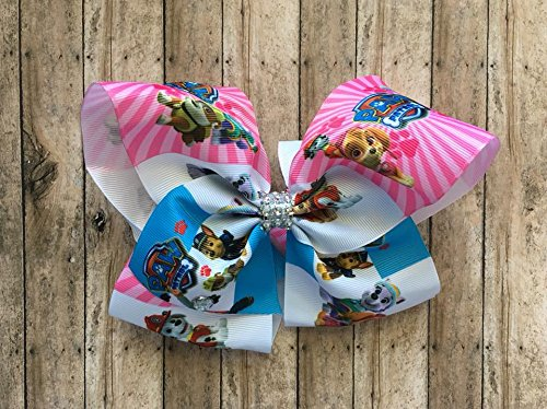 Paw Patrol inspired 8 inch bow by Inspired Bows