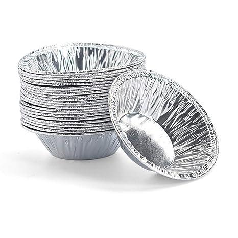 sadqwdf 250 Unids Desechables Huevo Tarta Titular Molde Papel de Aluminio Pastel de Galletas Cocina Herramienta