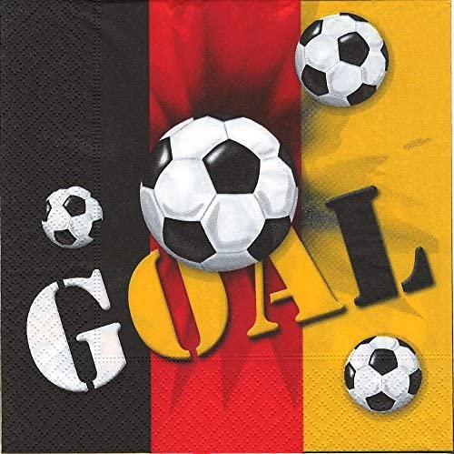 20 servilletas de papel de Alemania // de balón de fútbol para ...