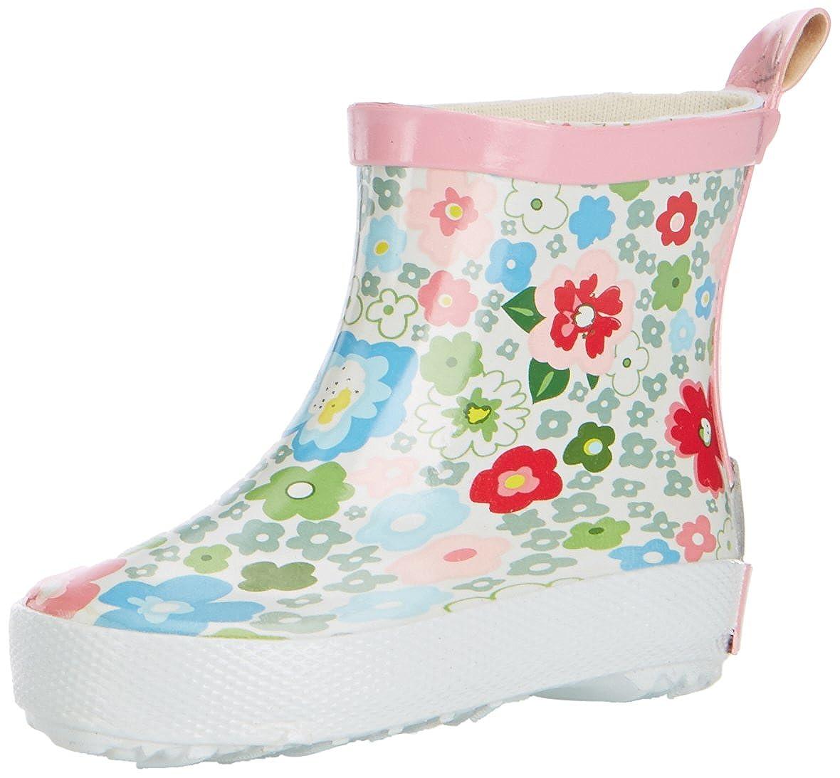 Playshoes Short Flower Wellies G Botas de agua de goma ni/ña
