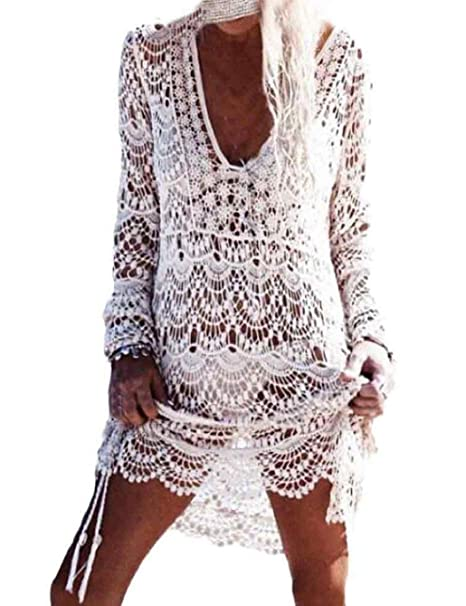 0e0a765d34 heekpek Mujer Pareos Playa Traje de Baño Vestido de la Playa Bikini Cover  up Camisola de