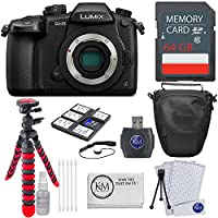 Panasonic Lumix DC-GH5 Mirrorless Camera + 64GB Card + Basic Photo Bundle