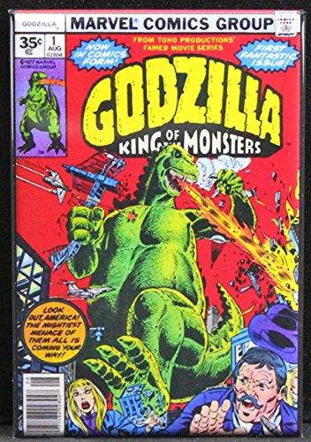 Godzilla #1 Comic Cover Refrigerator Magnet. (Godzilla Magnet)