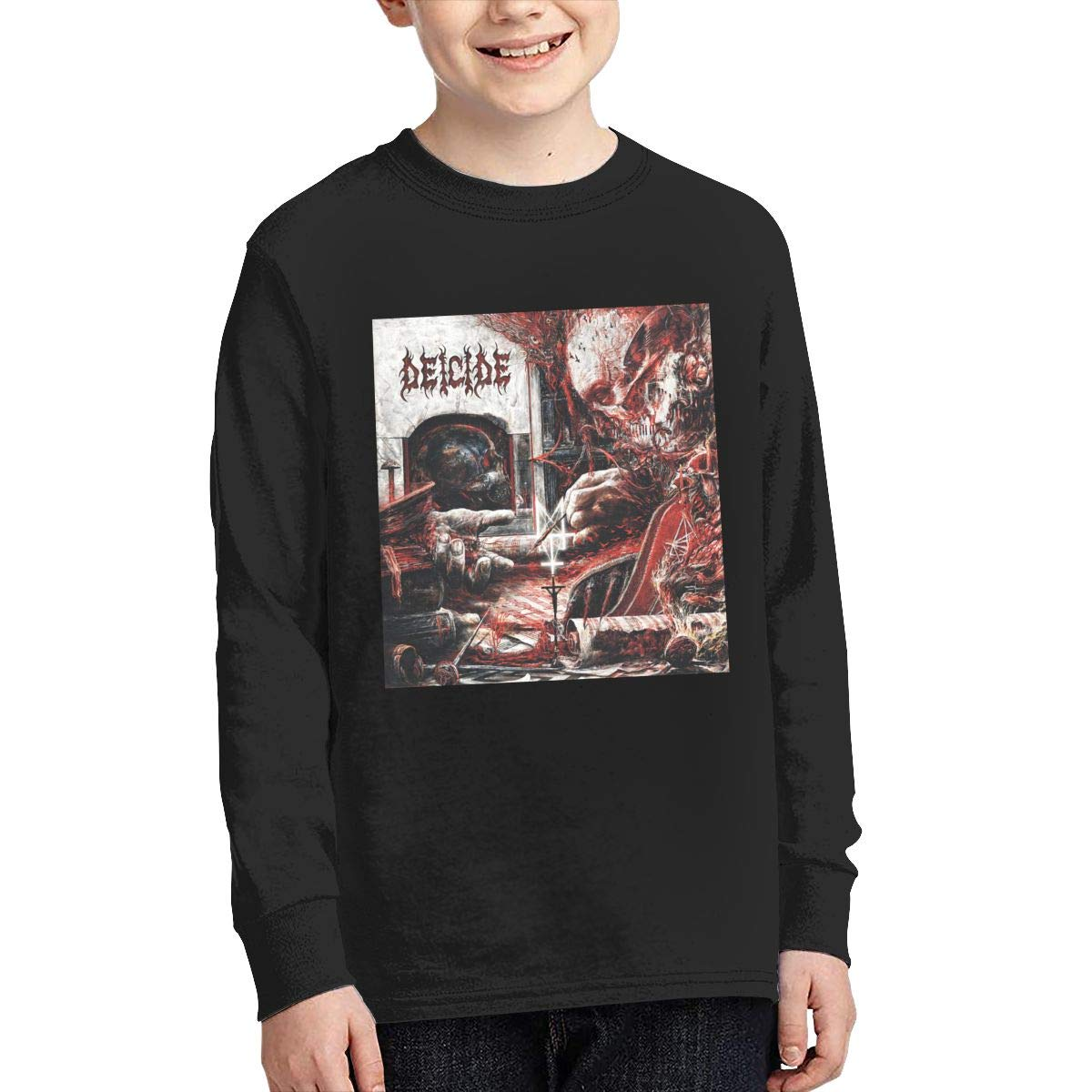 MichaelHazzard Deicide Youth Soft Long Sleeve Crewneck Tee T-Shirt for Boys and Girls