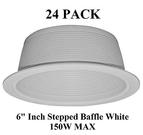 6 inch recessed light white baffle trim for br40 par38 150w 24 6 inch recessed light white baffle trim for br40 par38 150w 24 pack aloadofball Images
