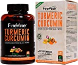 Turmeric Curcumin with BioPerine Black Pepper and Ginger – Made in USA – 60 Vegetarian Capsules for Advanced Absorption, Cardiovascular Health, Joints Support and Anti Aging Supplement (60 Capsules) For Sale