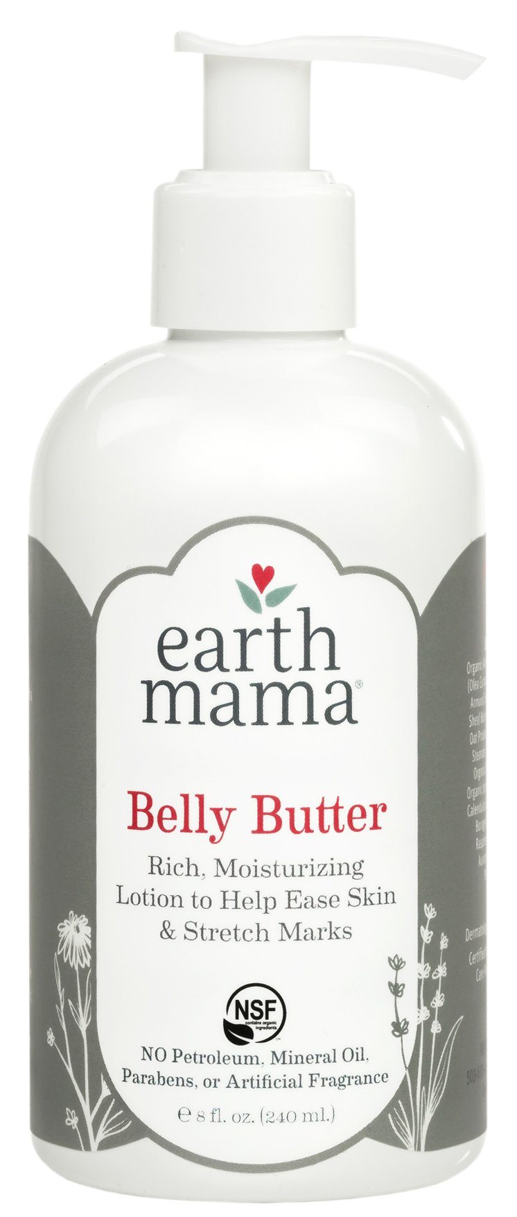 Earth Mama Belly Butter to Help Ease Skin and Stretch Marks, 8-Fluid Ounce by Earth Mama