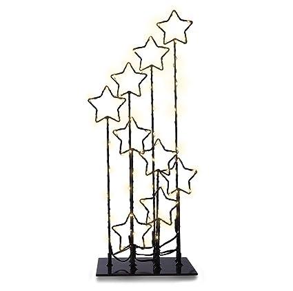 decoking 47118 90er LED estrellas lámpara blanco cálido corriente operativos decorativo de Navidad Decorativa de Navidad decoración Stars Magic: Amazon.es: ...