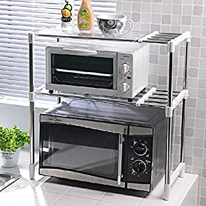 New Multi Function Double Microwave Oven Stand Shelf