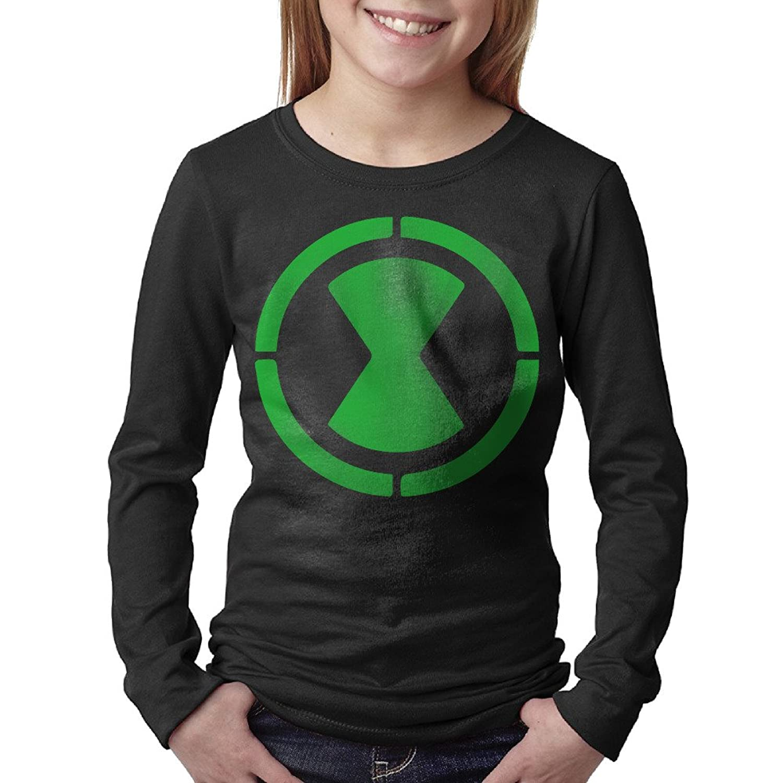 Black t shirt amazon - Amazon Com Kids Ben 10 Omnitrix Logo Long Sleeve T Shirts Black Books