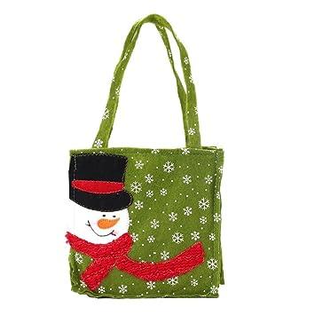 Amazon.com: iuhan nuevo Santa Claus bolsas de regalo feliz ...