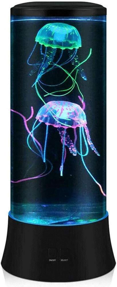 Electric Jellyfish Lamp Tank Aquarium LED Color Changing Mood Home Decoration