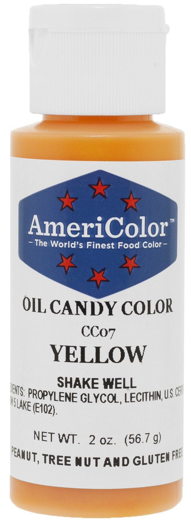 AmeriColor Candy Oil Food Color, 2-Ounce, Yelllow