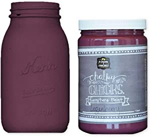 Chalky Chicks   Chalk Finish Paint   Perfect For Furniture, Cabinets, Home Decor, & DIY Craft Projects   32 oz   Logan Berry