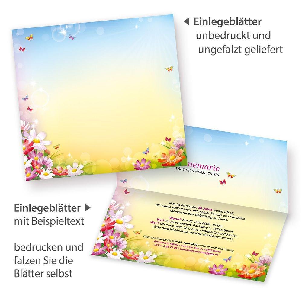 TATMOTIVE 05-0102-0265-02020 Tatmotive FLORENTINA Einladungskarten Einladungskarten Einladungskarten Geburtstag (20 Sets) selbst bedruckbar, mit Umschlag, für Frauen B01D8TQWWY | Neuer Stil  b43437
