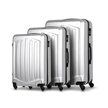 tomshoo 3 piezas rígida enkoffer Juego – Set – Maleta de viaje rígida maletas trolley rígida