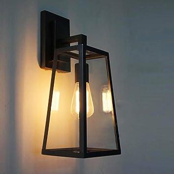 Gbyzhmh Vintage Industrie Glas Vitrine Lampenschirm Loft Wandleuchte
