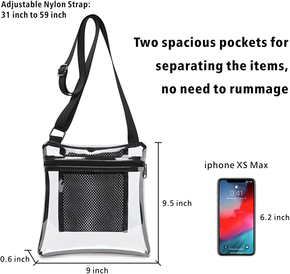 Clear Bag F-color Clear Stadium Bag NFL BTS Approved Concert Purse for Women