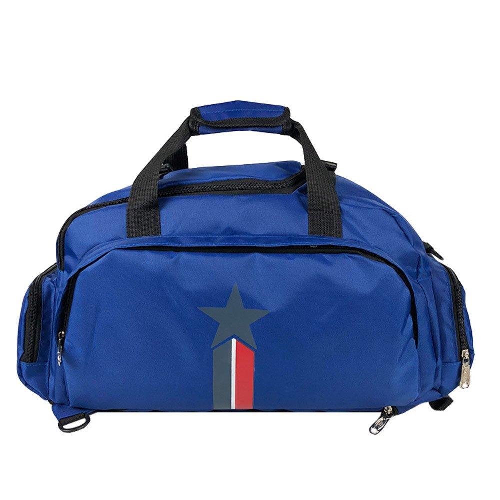 Yangjiaxuan Multifunctional Fitness Sports Bag Polyester Large Capacity Shoe Warehouse Hand Shoulder Bag (Color : Blue)