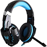 KOTION EACH 3.5mm Gaming Headphones casque Stereo Earphone Headset with Mic LED Light for Laptop Tablet / PS4 Gamepad…