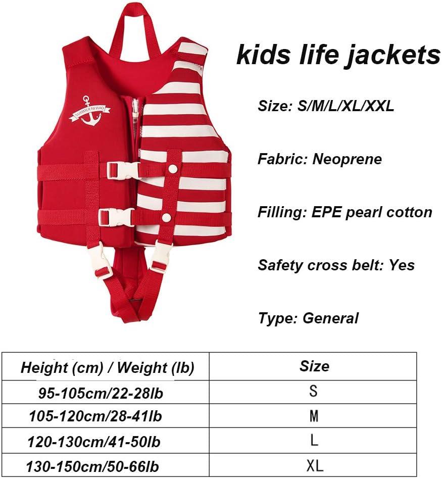 Kinder Schwimmweste Schwimmwesten f/ür Kinder mit Sicherheitsschnalle Geeignet f/ür 22-66 Pfund Schwimmhilfe S-XXL Jungen und M/ädchen im Alter von 1-12 Jahren 10-60 kg