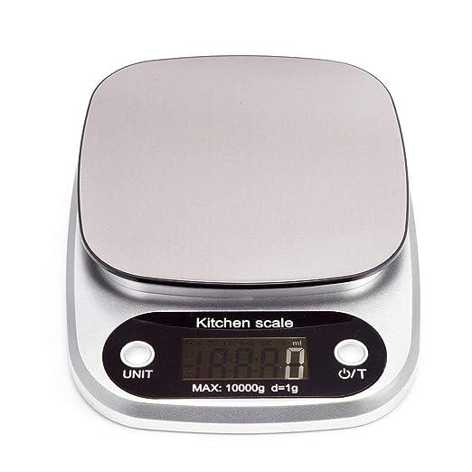 Kuchenwaage Digitalwaage 10kg Edelstahl Flach Klein Elektrisch Profi