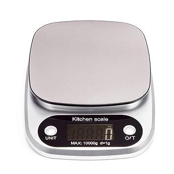 WSKTOP Básculas de Cocina Digitales,10kg/22lbs Básculas De Precision Balanza Electrónica Multifuncional,