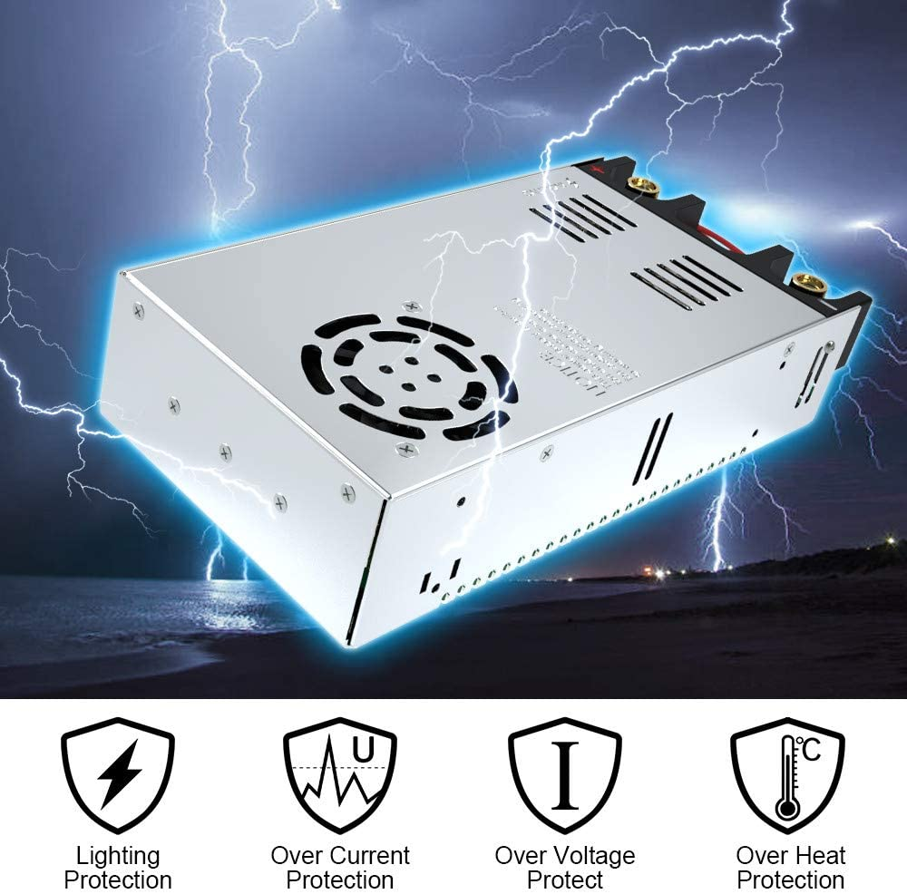 SMPS 110V AC to 12V DC Converter Power Supply Adapter Switch Transformer Max 50A 600W (New Version): Home Audio & Theater